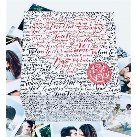 100 Dilde Seni Seviyorum Porselen Kupa Bardak Özel Kutulu Hediyelik