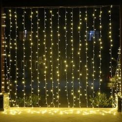 2x2 metre 16 saçaklı Perde Led Işıklar Animasyonlu