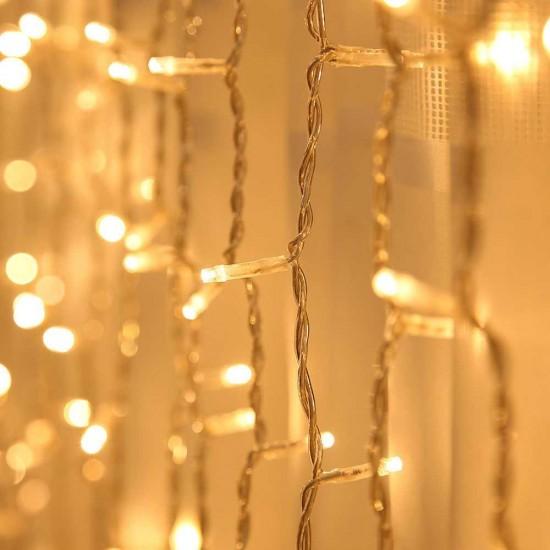 Perde Led Işıklar 2x2 Metre Animasyonlu Fişli