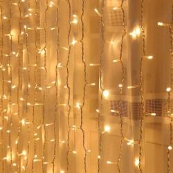 2x2 metre Pilli Perde Led Işıklar Gün Işığı