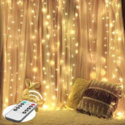 2x2 Metre Pilli Perde Led Işıklar Kumandalı Animasyonlu