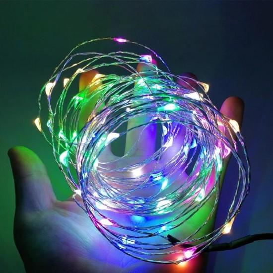 Çok Renkli Rgb Led Işıklı Peri Tel 3 metre