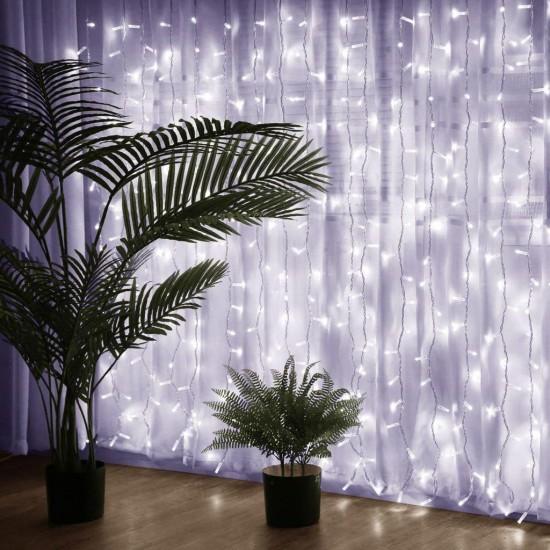 Perde Led Işıklar 3x2 Metre Animasyonlu Fişli