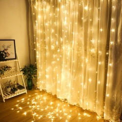 3x3 Metre Pilli Perde Led Işıklar Kumandalı Animasyonlu
