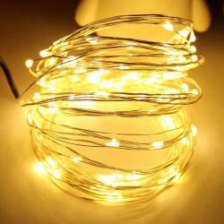 5 Metre Led Işıklı Peri Bakır Tel (saat pilli)