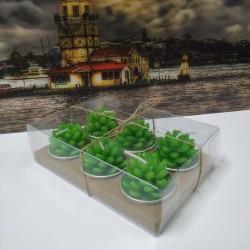 6 lı Kaktüs Mumlar Şık Paketli Model 1