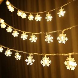6 Metre Dekoratif Led Işıklı Kar Taneleri