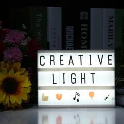A5 Orta Boyut Lightbox Led Işıklı Yazı Panosu