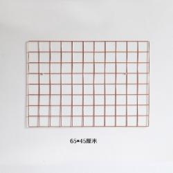 Bronz Metal Tel Organizer Duvar Panosu – 65×45 cm