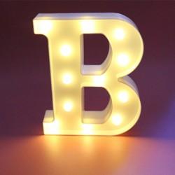 Dekoratif Led Işıklı B Harfi