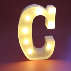 Dekoratif Led Işıklı C Harfi
