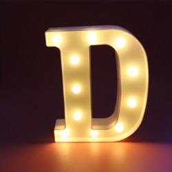 Dekoratif Led Işıklı D Harfi