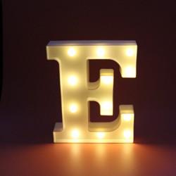 Dekoratif Led Işıklı E Harfi
