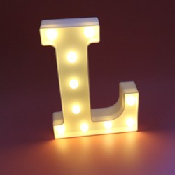 Dekoratif Led Işıklı L Harfi