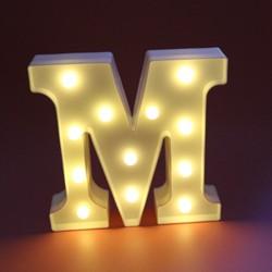 Dekoratif Led Işıklı M Harfi