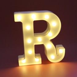 Dekoratif Led Işıklı R Harfi