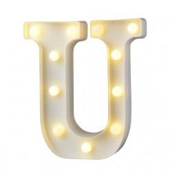 Dekoratif Led Işıklı U Harfi
