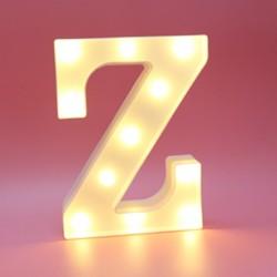 Dekoratif Led Işıklı Z Harfi