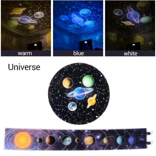 Diamond Projektör Gece Lambası Değişebilen 5 Farklı Model