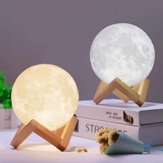 Dokunmatik ve Şarjlı Moonlight Dolunay Lamba