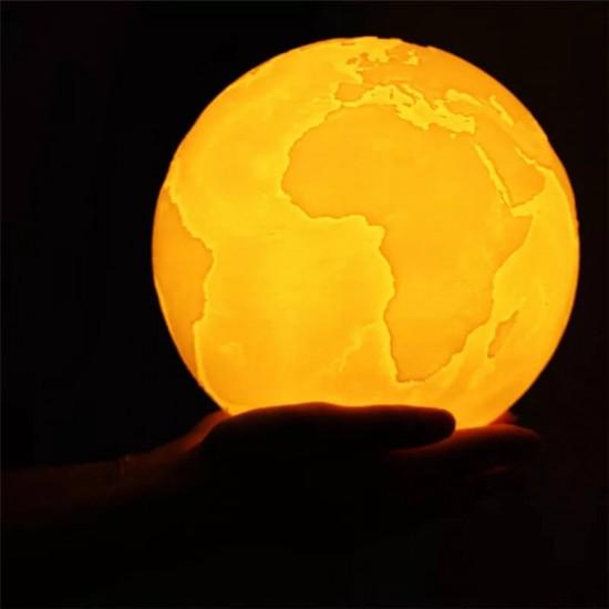 Dünya Haritalı Moonlight Dolunay Gece Lambası 15 cm