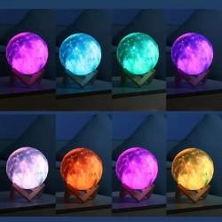 Galaxy Renk Değiştiren Moonlight Dolunay Gece Lambası 15 cm