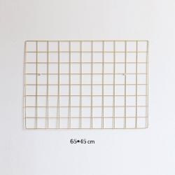 Gold Metal Tel Organizer Duvar Panosu – 65×45 cm