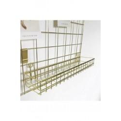 Gold Tel Pano Askılı Sepet Raf