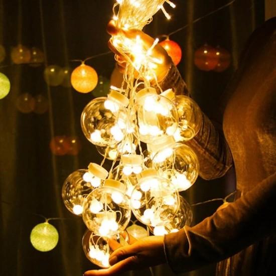 Küre Toplu Perde Led Işıklar Animasyonlu