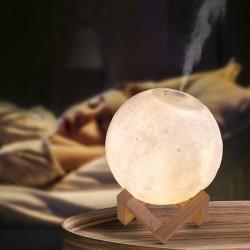 Led Işıklı Ay Hava Nemlendiricili Gece Lambası
