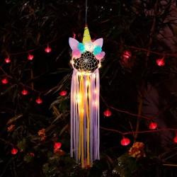 Led Işıklı Çiçekli Unicorn Düş Rüya Kapanı Dream Catcher