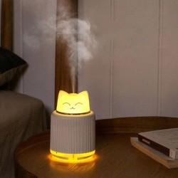 Led Işıklı Kedi Hava Nemlendiricili Gece Lambası
