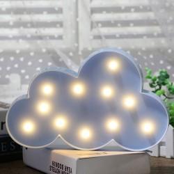 Led Işıklı Mavi Bulut Dekoratif Masa Duvar Gece Lambası