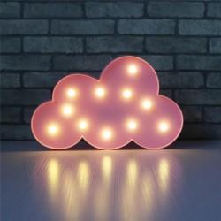 Led Işıklı Pembe Bulut Dekoratif Masa Duvar Gece Lambası