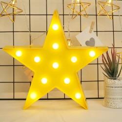 Led Işıklı Sarı Yıldız Star Masa Duvar Gece Lambası