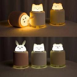 Led Işıklı Tavşan Hava Nemlendiricili Gece Lambası