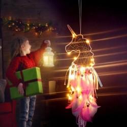 Led Işıklı Unicorn Düş Rüya Kapanı Dream Catcher