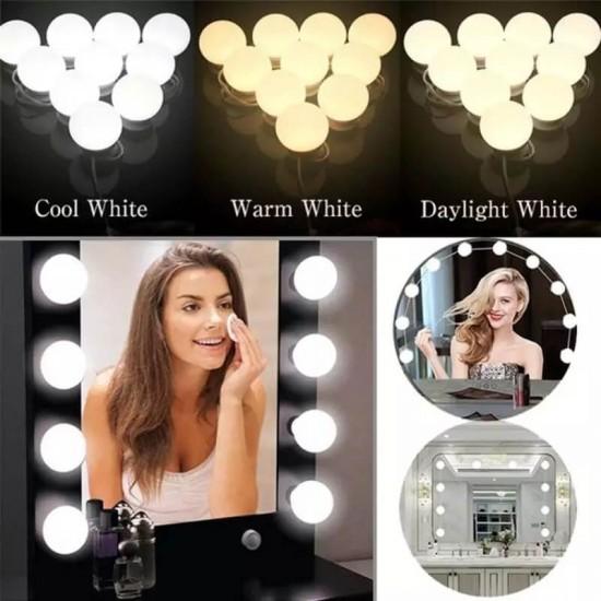 Makyaj Aynası Ayarlanabilir Led Işıklar Hollywood Tarzı