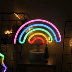 Neon Işıklı Ayaklı Gökkuşağı Masa Lambası