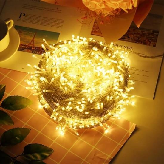Dekoratif Led Işık Dizeleri 10 metre - Pilli - Mandal Hediyeli -