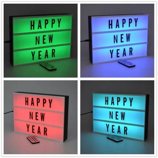 A4 Büyük Boyut 16 Renk Yanabilen Lightbox Işıklı Yazı Panosu