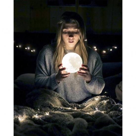 Beyaz Moonlight Dolunay Gece Lambası 12 cm