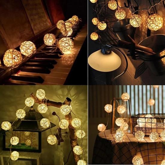 Dekoratif Led Işıklı Bambu Toplar
