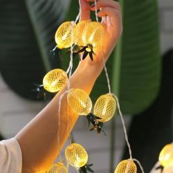 Işıklı Dekoratif Metal Ananas Dizeleri