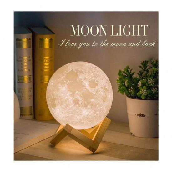 Gerçek Ay Görünümlü Moonlight Dolunay Lamba Dokunmatik