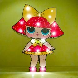 Işıklı Ahşap Lol Bebek Gece Lambası - Model 10-