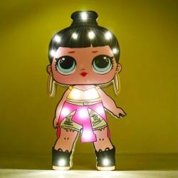 Işıklı Ahşap Lol Bebek Gece Lambası - Model 11-