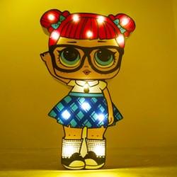 Işıklı Ahşap Lol Bebek Gece Lambası - Model 6-