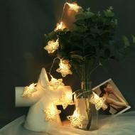 Işıklı Bambu Beyaz Yıldız Dizeleri