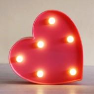 Işıklı Kırmızı Kalp Lamba